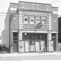 Historic photo from 1919 - Odeon Theatre,1558 Queen Street West - photo plays - w/ Dentist above in Parkdale
