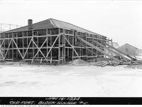 Historic photo from Tuesday, January 16, 1934 - Fort York Restoration, Block House No. 2 in Fort York