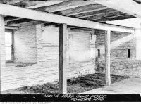 Historic photo from Saturday, November 4, 1933 - Fort York, interior of Powder Magazine in Fort York