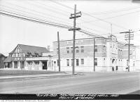 Historic photo from Thursday, March 30, 1933 - Completed Montgomery Police Station No. 12 and Fire Hall, northwest corner of Yonge Street and Montgomery Avenue in North Toronto