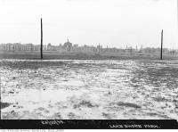 Historic photo from Tuesday, October 24, 1933 - Lakeshore Park looking northwest to Princes Gates in CNE