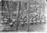 Historic photo from Tuesday, July 29, 1913 - Children outdoors on bunks at the Victoria Park Forest School in Fallingbrook