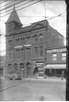 Historic photo from Thursday, September 18, 1930 - Lennox Hotel - 831 Yonge Street at Church - Central Shoe repair and Gibbons & Co Grocers in Yorkville