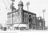 Historic photo from Wednesday, March 16, 1927 - Heydon House Hotel, northwest corner of Old Weston Road and St. Clair Avenue in The Junction