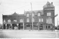 Historic photo from Saturday, November 21, 1914 - Rosedale Hotel NE corner of Yonge Street and Shaftensbury Avenue, in Rosedale