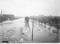 Historic photo from Monday, March 27, 1916 - Don River flooded north from Wilton Avenue (Dundas) in Riverside-South Riverdale