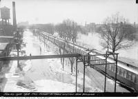 Historic photo from Tuesday, February 26, 1918 - Don flood, south from Wilton Avenue Bridge (Dundas) in Riverside-South Riverdale