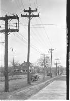 Historic photo from Tuesday, November 20, 1928 - Muddy Eglinton Avenue east from Oriole Parkway in Chaplin Estates