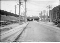 Historic photo from Thursday, April 29, 1915 - King Street West subway at Sudbury in Liberty Village