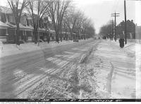 Historic photo from Monday, January 17, 1938 - Winter conditions on Dupont Street west of Christie St in The Annex