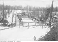 Historic photo from Wednesday, February 4, 1914 - Moore Avenue, Belt Line railway looking southwest in Moore Park