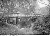 Historic photo from Wednesday, July 28, 1920 - Roxborough Drive bridge in Rosedale