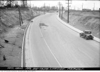 Historic photo from Thursday, April 26, 1928 - Millwood Road north to Laird Drive (Asphalt) in Leaside