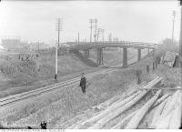 Historic photo from Monday, June 5, 1916 - Old Fort Road wooden bridge site in Fort York