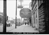 Historic photo from Monday, March 21, 1932 - Teck Theatre looking west from Broadview Ave to No. 700 Queen Street East in Riverside-South Riverdale