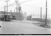 Historic photo from Wednesday, March 21, 1923 - Sterling Road looking north from Dundas Street West in The Junction