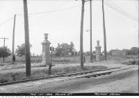 Historic photo from Tuesday, August 1, 1922 - Yonge Street and Melrose Avenue gates in North Toronto