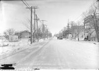 Historic photo from Monday, February 12, 1917 - Yonge Street north from Hillsdale Avenue in Chaplin Estates