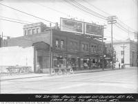Historic photo from Sunday, August 23, 1931 - South side of Queen Street West from No. 191 to Simcoe Street (University Avenue extension south from Queen Street) in Downtown