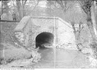 Historic photo from Monday, April 19, 1915 - Yonge Street bridge in Mount Pleasant Cemetery Hollow in Mount Pleasant Cemetery