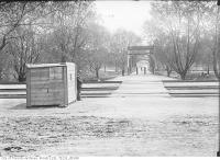 Historic photo from Friday, June 1, 1917 - Riverdale Park foot bridge looking west, (Watchmans House left corner) in Riverdale park