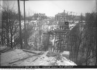 Historic photo from Tuesday, December 16, 1924 - St. Clair Avenue - Avoca Avenue bridge - demolition of old bridge in Moore Park