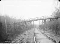 Historic photo from Thursday, December 5, 1912 - Clarence Avenue bridge (Heath Street over the  Belt Line) in Mount Pleasant Cemetery