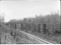 Historic photo from Wednesday, April 21, 1915 - Clarence Avenue wooden bridge in Mount Pleasant Cemetery
