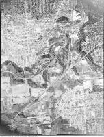 Historic photo from Wednesday, April 29, 1942 - Aerial view of Leaside (from an airplane - north at the bottom?) in Leaside