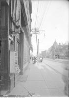 Historic photo from Thursday, September 29, 1910 - Mary Pickford theatre - looking east on Queen Street (Originally the Auditorium Theatre) in Alexandra Park