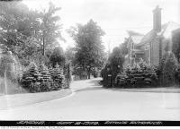 Historic photo from Wednesday, September 18, 1929 - Entrance to Ardwold, Eaton family residence, Spadina Road in Casa Loma