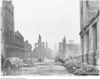 Historic photo from Wednesday, April 20, 1904 - Toronto Fire ruins, looking north from foot of Bay Street to Old City Hall in Great Toronto fire of 1904