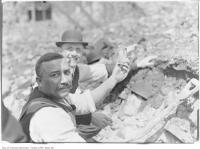 Historic photo from 1906 - 2 years later curio seekers find souvenir in 1904 Toronto fire ruins in Great Toronto fire of 1904
