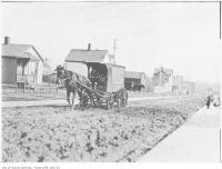 Historic photo from 1911 - Delivery wagon on Arlington Avenue, Earlscourt, looking south in Little Italy (St. Clair)