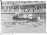 Historic photo from 1908 - At the end of the water chute ride at Scarboro Beach Park in The Beaches