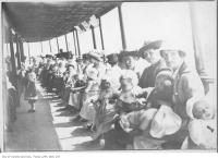 Historic photo from 1908 - Toronto Islands ferry passengers in Toronto Island