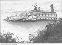 Historic photo from Monday, August 2, 1915 - Wreck of the ferry Alexandria, Scarborough Bluffs in Scarborough Bluffs