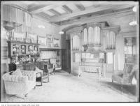 Historic photo from 1910 - Organ in the music room of Sir Joseph Flavelle - Holwood in Queens Park