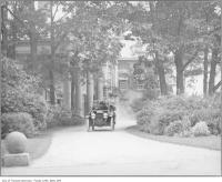 Historic photo from 1912 - Open car leaving Holwood - Sir Joseph Flavelle's house in Queens Park