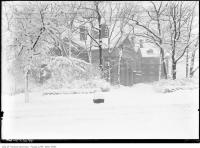 Historic photo from 1920 - South side of Holwood in the snow along Queen's Park in Queens Park