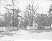 Historic photo from 1920 - Rusholme estate entrance - home of Colonel George Taylor Dennison - demolished 1953 in Dufferin Grove