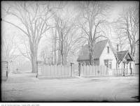 Historic photo from 1909 - Fence and lodge of The Grange in Art Gallery of Ontario