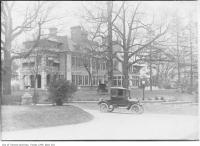 Historic photo from 1911 - Model T in the driveway out front of Ardwold - home of Sir John Eaton and Lady Eaton, Spadina Road in Casa Loma