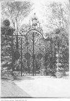 Historic photo from 1911 - Iron gates at Benvenuto on Avenue Road - the home of Sir William MacKenzie in South Hill
