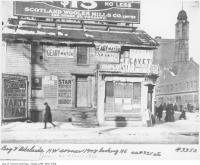 Historic photo from 1910 - Old Doel Brewery -  Bay Street and Adelaide Street West, northwest corner, looking northeast in Downtown