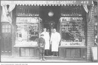 Historic photo from 1920 - Brunswick Meat Market at 495 Bloor Street West in Harbord Village