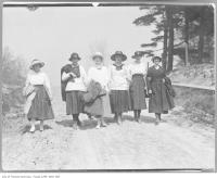 Historic photo from 1912 - Women walking on Eglinton Avenue West near Bathurst Street in Forest Hill