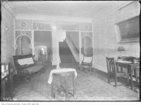 Historic photo from 1911 - Writing room in the Queen's Hotel (previously the Revere House) in Financial District