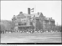 Historic photo from 1910 - St. Andrew's College field day west side of Schofield Avenue, north of the Glen Road bridge, north Rosedale. in Rosedale