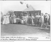 Historic photo from 1912 - Group with fortune teller at a Benvenuto garden party in South Hill
